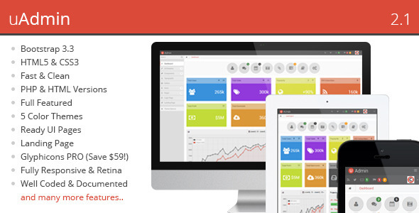 uAdmin - Responsive Admin Dashboard Template - Admin Templates Site Templates