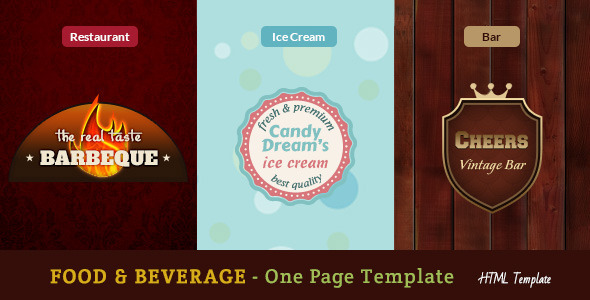 ThemeForest Food & Beverages One Page Template 10068283