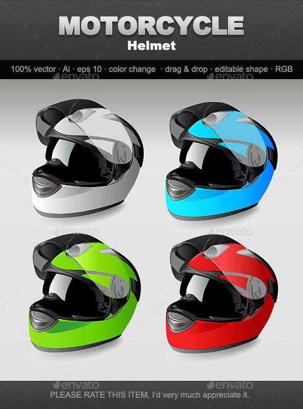 GraphicRiver Motorcycle Helmet 10047575