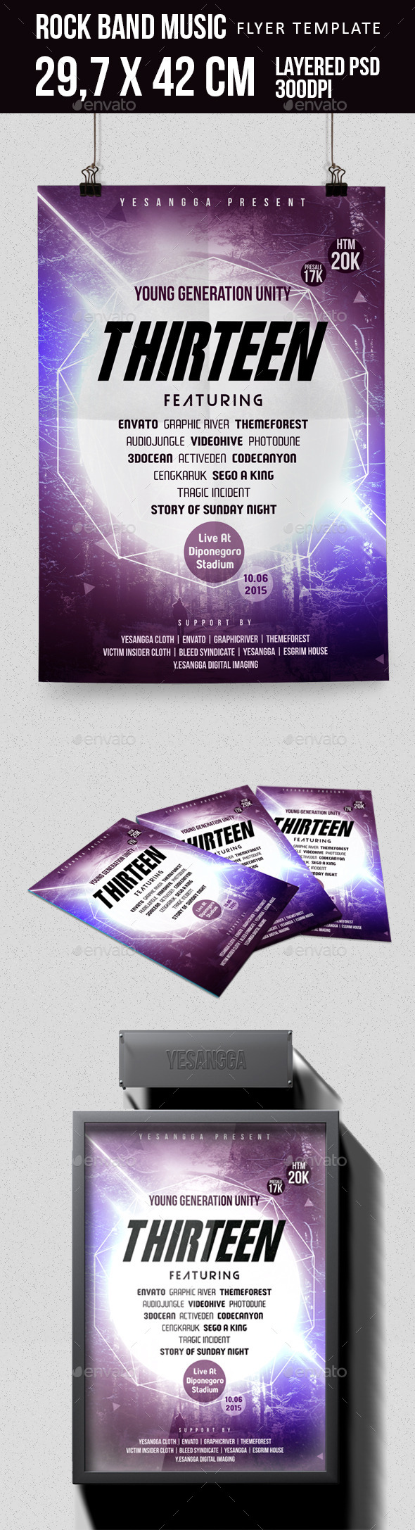 GraphicRiver Rock Music Flyer 9992727