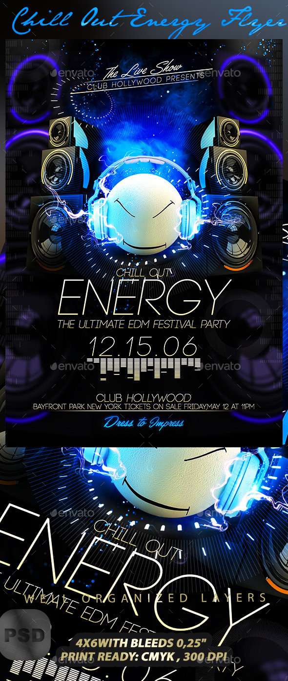 GraphicRiver Chill Out Energy Flyer 10068652
