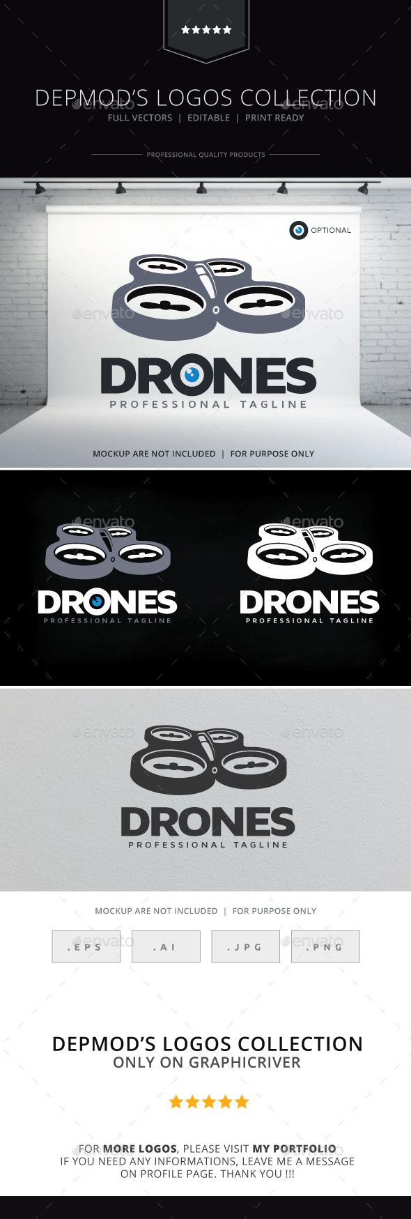 GraphicRiver Drones Logo 10068748