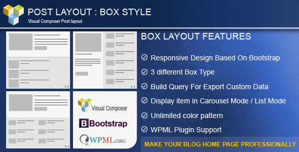 28. Post Layout : Box Style for Visual Composer