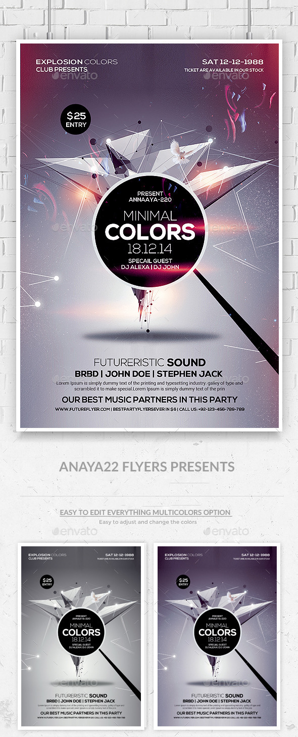 GraphicRiver Futuristic Flyer Template 10068807