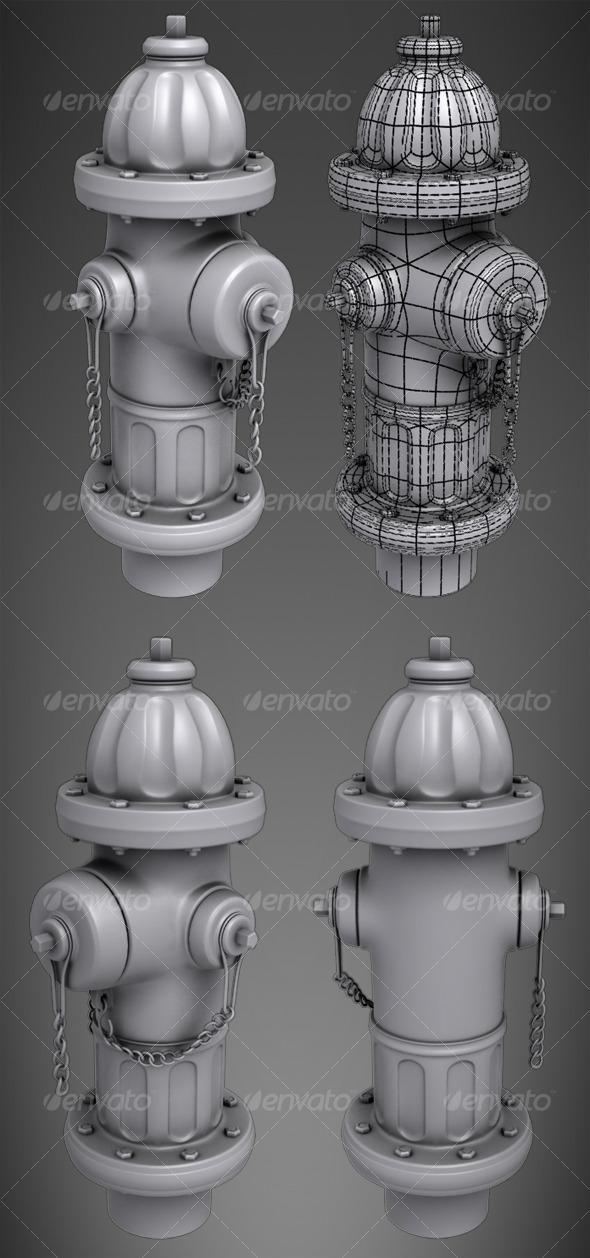 3DOcean Highpoly Fire Hydrant 127314