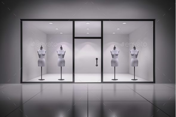 GraphicRiver Store Interior With Mannequins 10068905