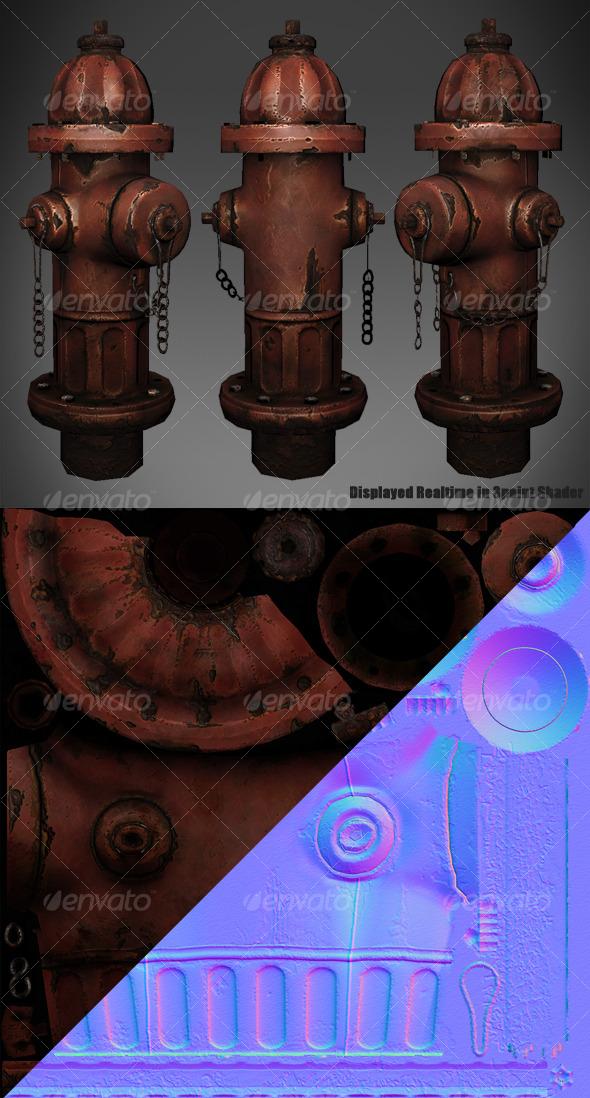 3DOcean Lowpoly Fire Hydrant 127321