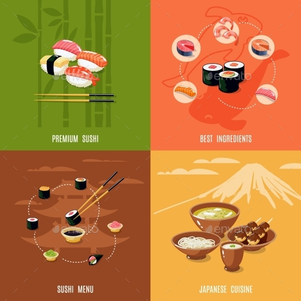 GraphicRiver Asian Food Design Concept 10069004