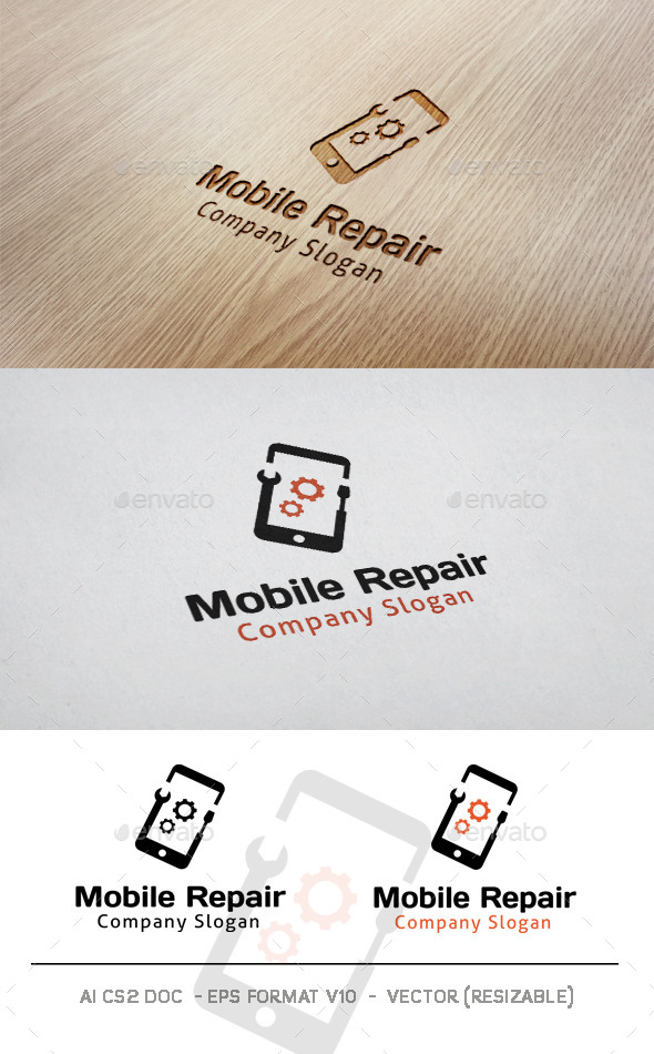 GraphicRiver Mobile Repair Logo 10069025