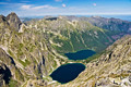 View of the lake in the valley of the Sea eye and the Black pond in Polish mountains, Tatras - PhotoDune Item for Sale