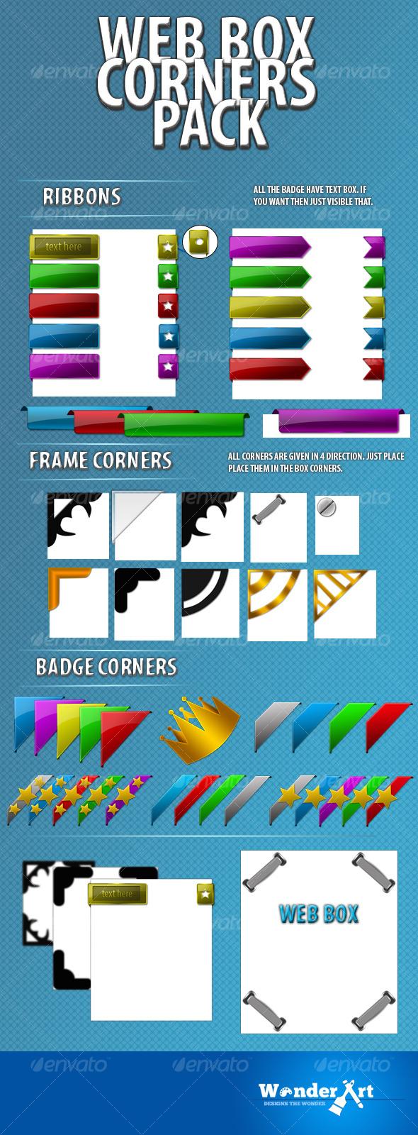 Web box corners pack