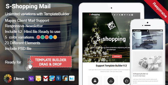 ThemeForest S-Shopping Responsive Email & Template Builder 10069258