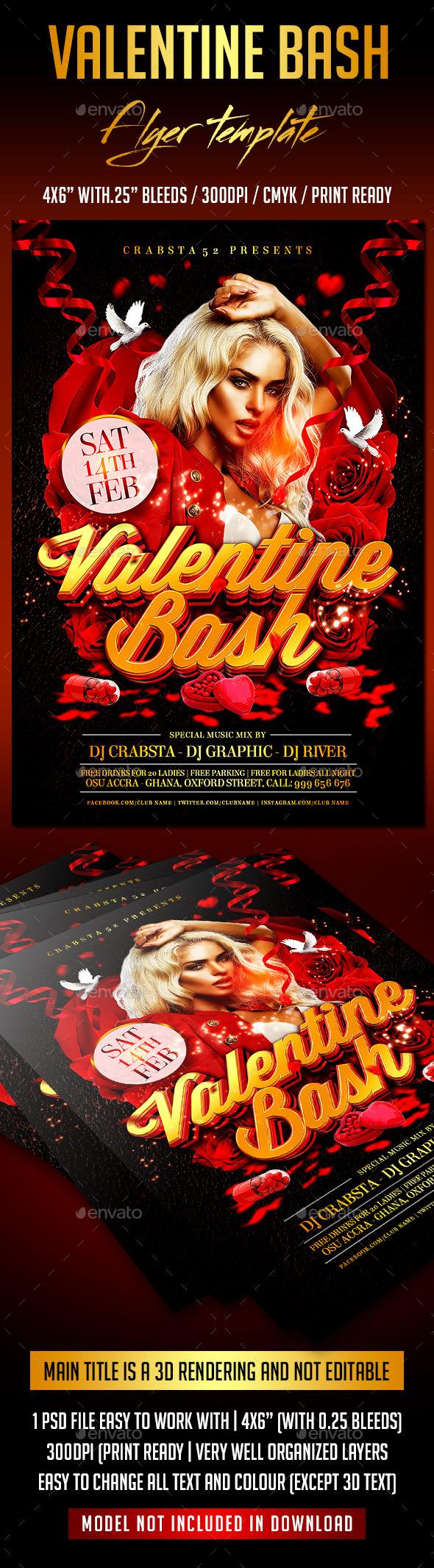Valentine Bash Flyer Template