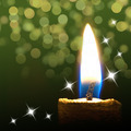Burning candle on abstract color background - PhotoDune Item for Sale