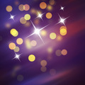 Purple Festive Christmas background. Abstract background with bokeh defocused lights and stars - PhotoDune Item for Sale