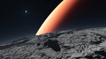 Deimos with the red planet Mars in the background - PhotoDune Item for Sale