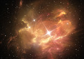 Supernova explosion with nebula in the background - PhotoDune Item for Sale