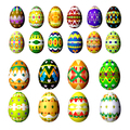 Set easter eggs isolated on white - PhotoDune Item for Sale