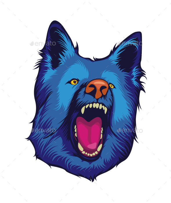 GraphicRiver Blue Dog Mascot Head 10069352