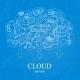 Doodle Social Cloud - GraphicRiver Item for Sale