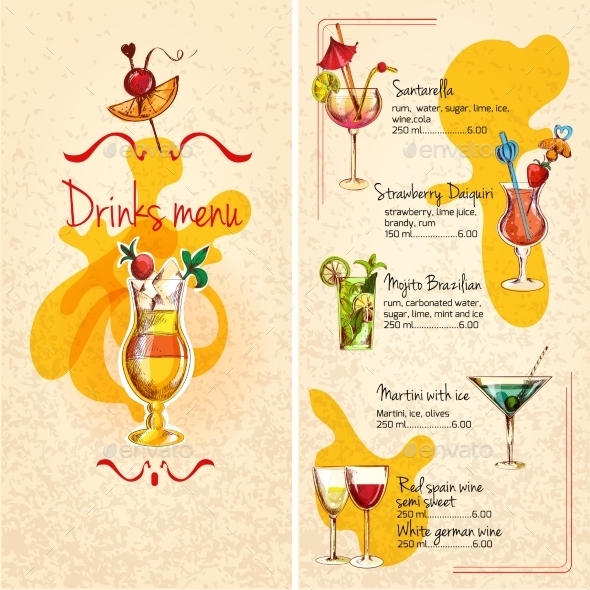 GraphicRiver Bar Menu Sketch 10069387