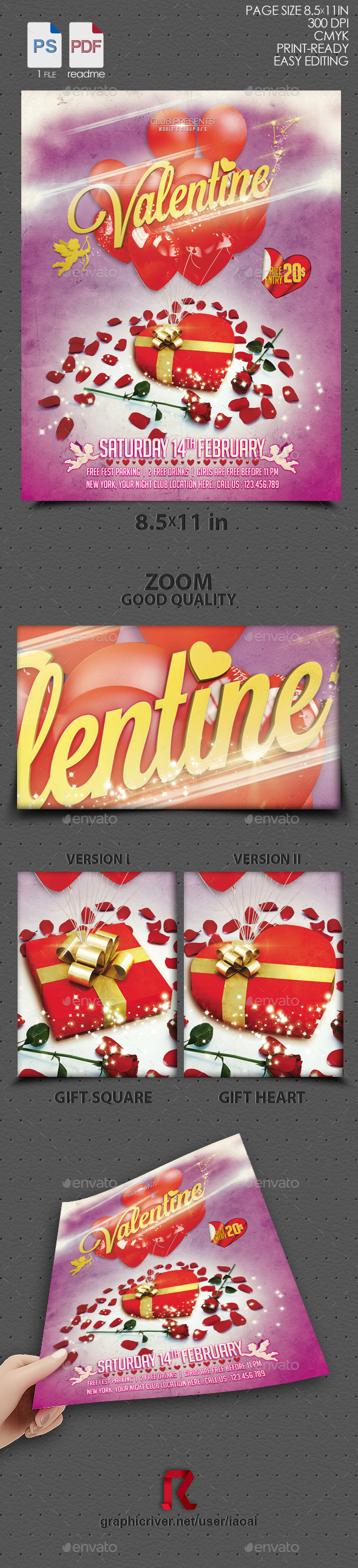 GraphicRiver Valentine flyer 10051367