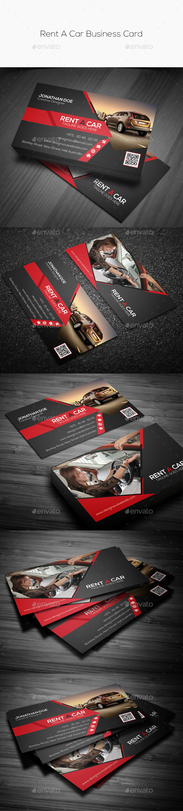 GraphicRiver Rent A Car Business Card 10069504