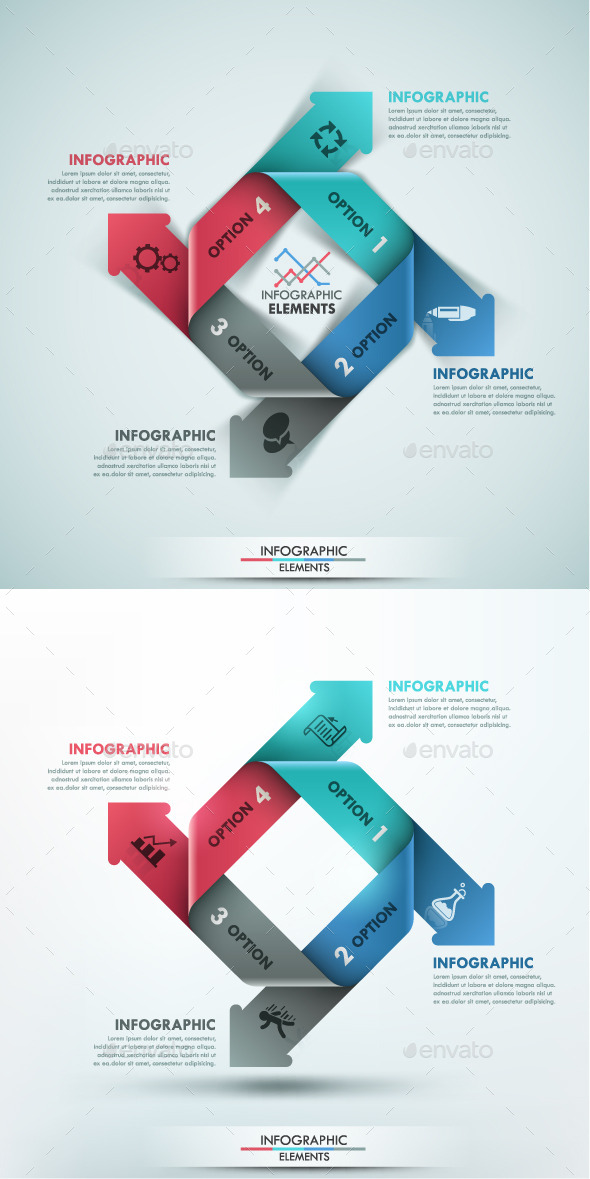 Modern Infographic Paper Options Template