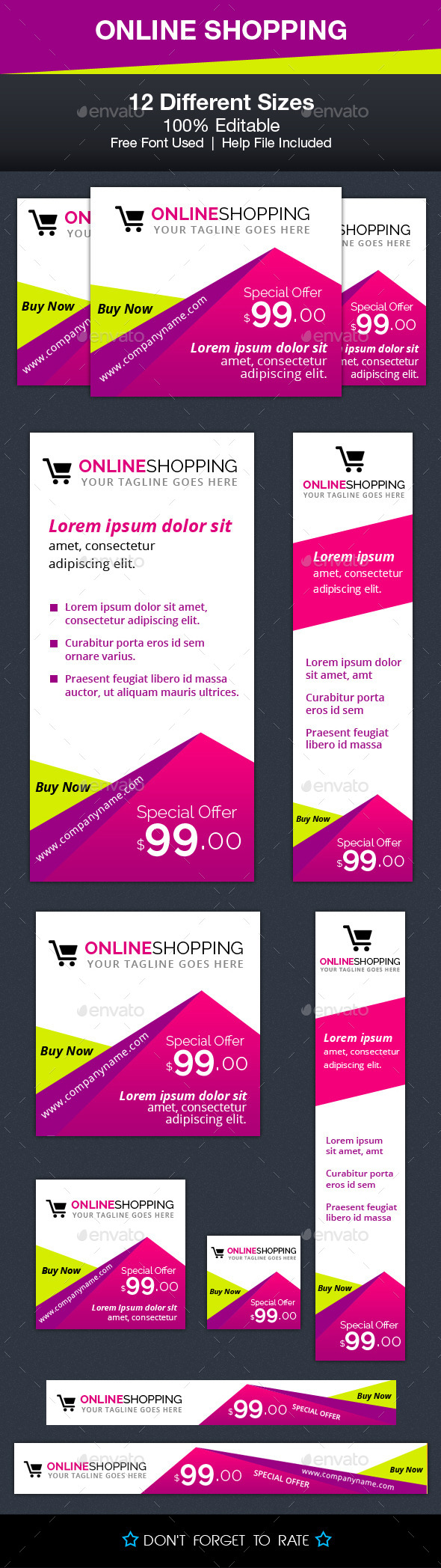 GraphicRiver Online Shopping Ad Banners 10069760