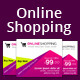 Online Shopping Ad Banners - GraphicRiver Item for Sale