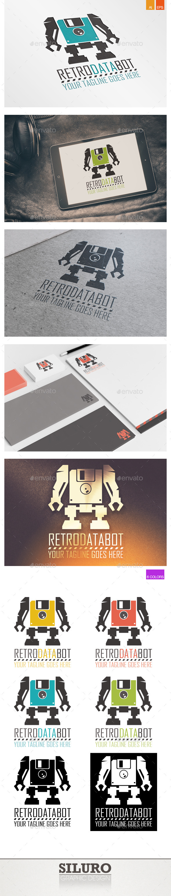 GraphicRiver Retro Data Bot Logo 10069898