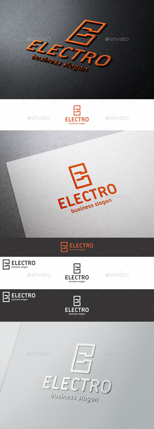 GraphicRiver Electro Plug Logo E Letter 10069947