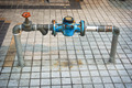 Main Water Line with Meter and Valve on Public Sidewalk - PhotoDune Item for Sale