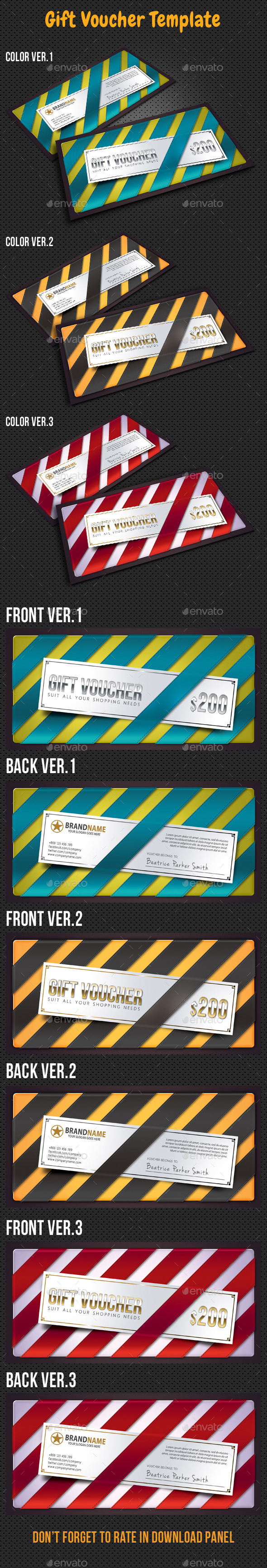 GraphicRiver Gift Voucher Card Template 10070176