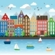 City on a River - GraphicRiver Item for Sale