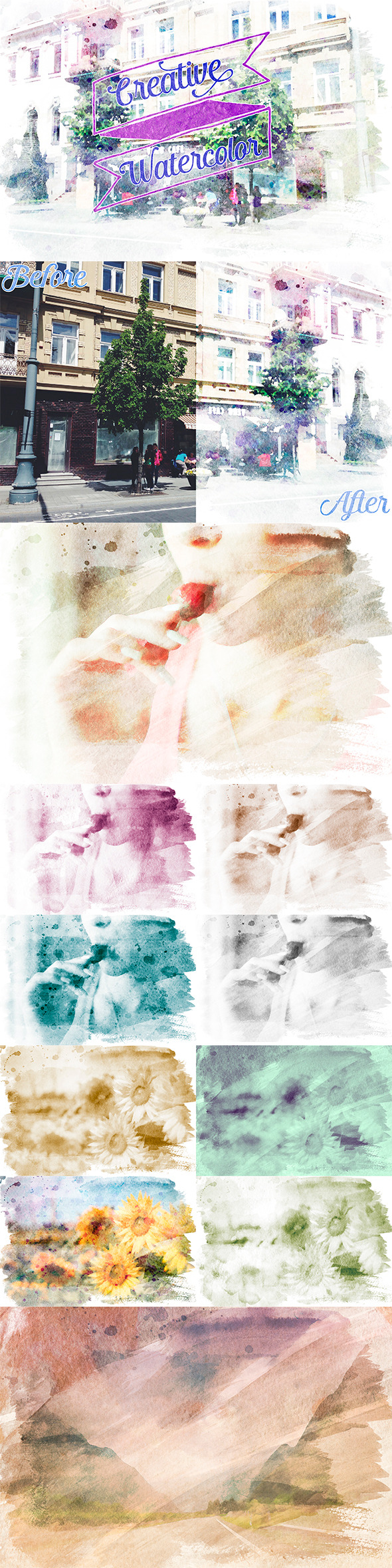 GraphicRiver Creative Watercolor Painting Vol 02 10070205
