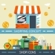 Shopping Concept and Icons Designs - GraphicRiver Item for Sale