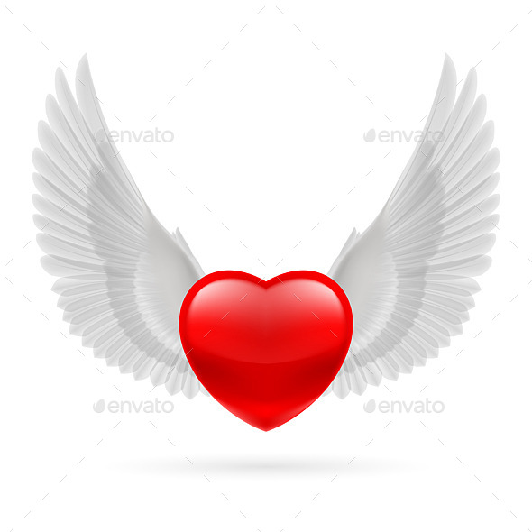 GraphicRiver Heart with Raised Wings 10070302