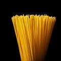 italian spaghetti isolated on black - PhotoDune Item for Sale
