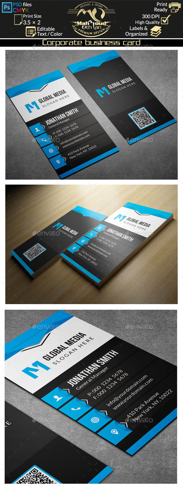 GraphicRiver Corporate Business Card 68 10070353