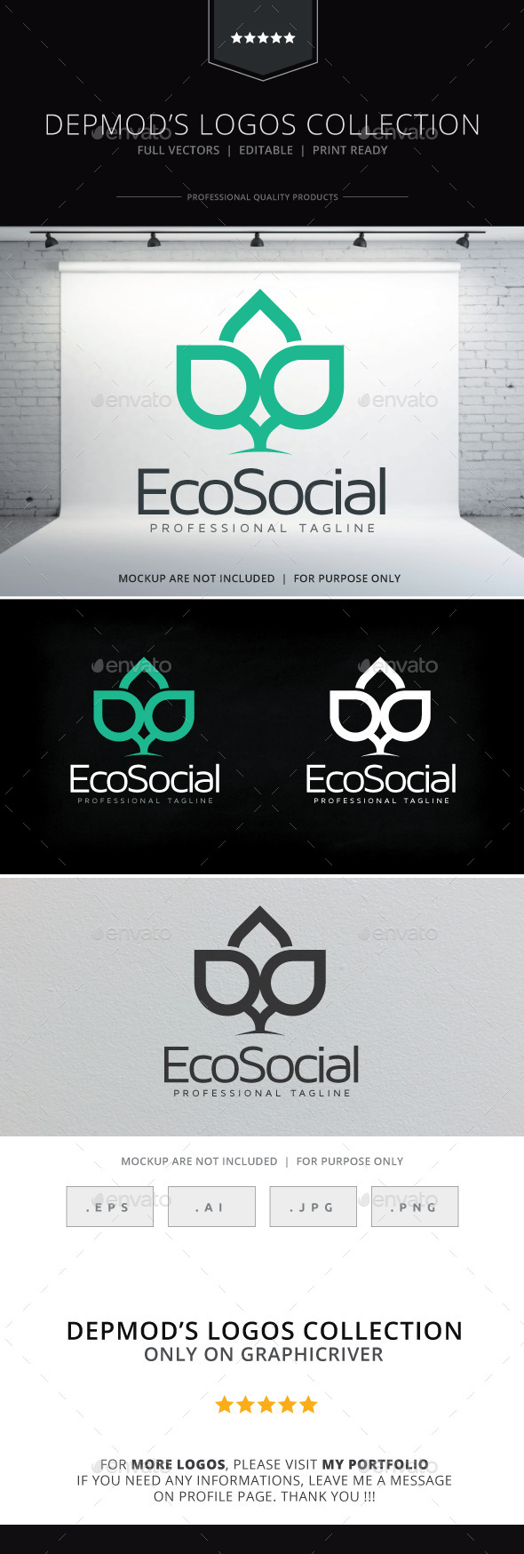 GraphicRiver Eco Social Logo 10070362
