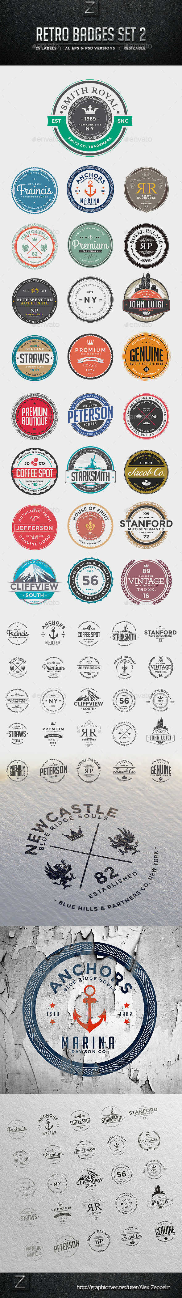 GraphicRiver Retro Badges Set 2 10070679