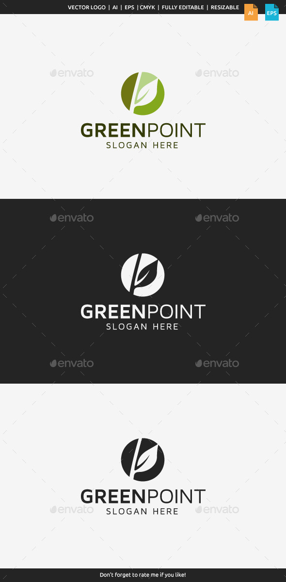 GraphicRiver Green Point Logo 10070859