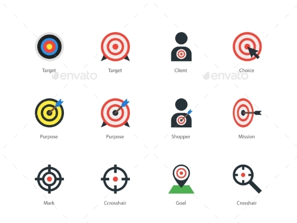 GraphicRiver Target icons on white background 10070882