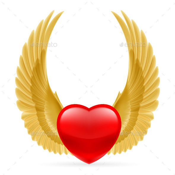 GraphicRiver Heart with Wings Up 10071109
