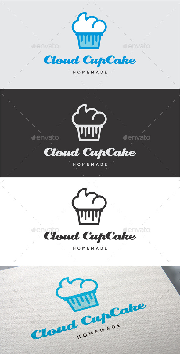 Cloud Cupcake Logo Template