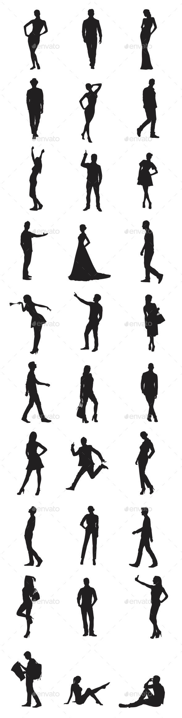 GraphicRiver People Silhouettes 10071722