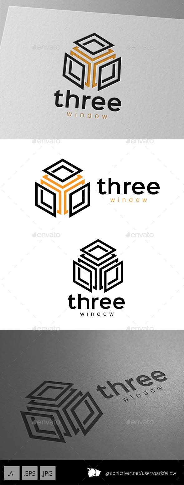 GraphicRiver Three Window Cube Logo 10071998