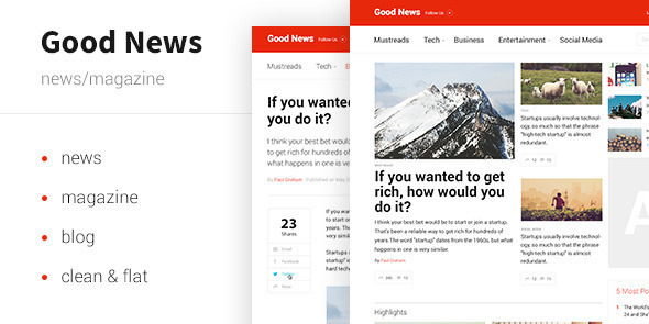ThemeForest Good News News & Magazine Template 10024765