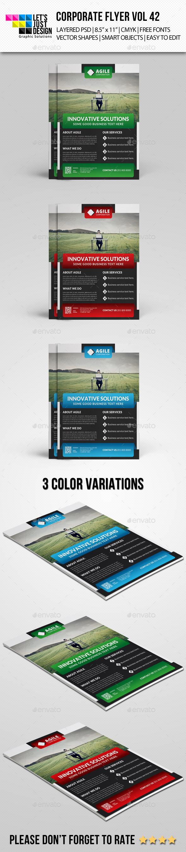 GraphicRiver Corporate Flyer Template Vol 42 10072071